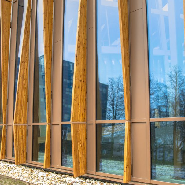 Detail sustainable school building