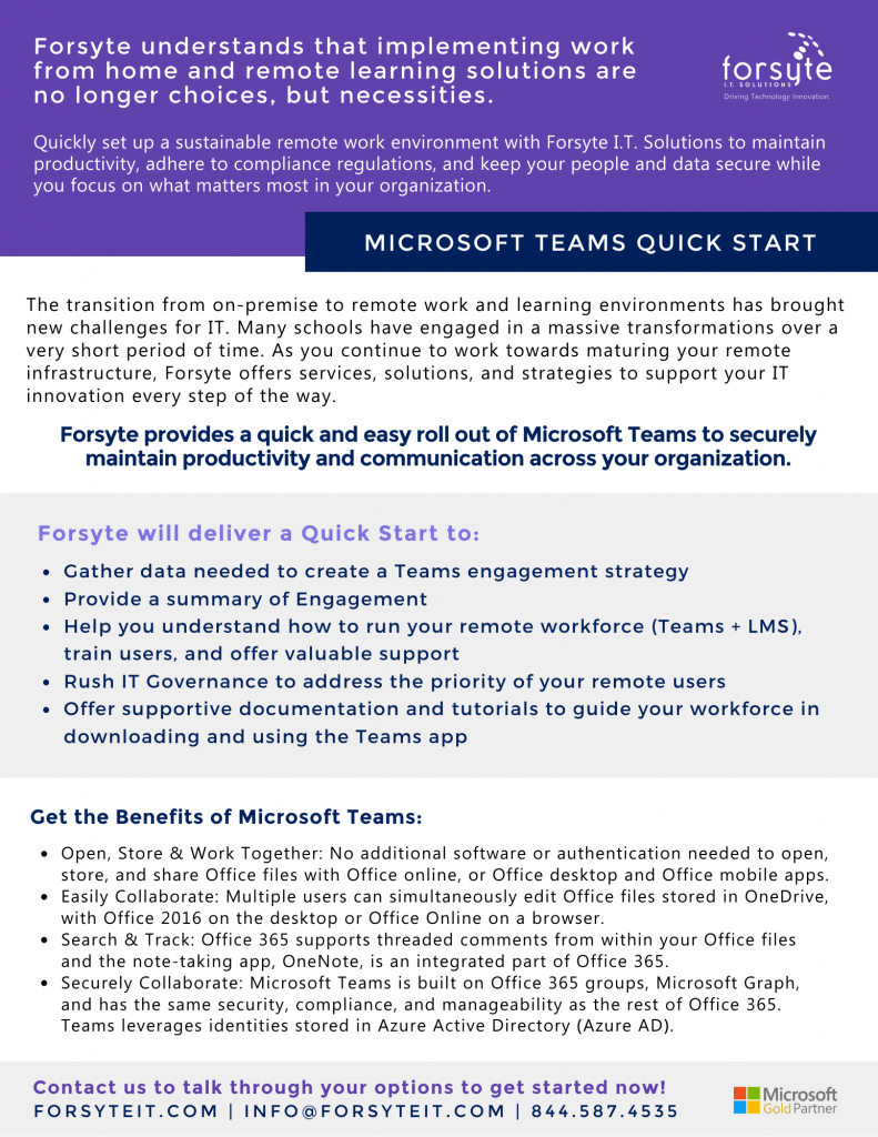 Microsoft Teams for secure work from home collaboration