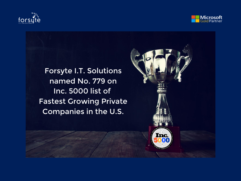 Inc 5000 winner Forsyte I.T. Solutions